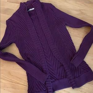 Athleta L Large cardigan sweater jacket purple